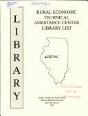 Rural Economic Technical Assistance Center Library List