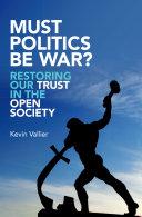 Must Politics Be War? Pdf/ePub eBook