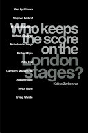 Who Keeps the Score on the London Stages? [Pdf/ePub] eBook