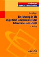 Einführung in die anglistisch-amerikanistische Literaturwissenschaft