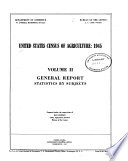 United States Census of Agriculture  1945  General report  statistics by subjects