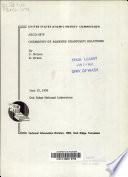 Chemistry Of Aqueous Uranium V Solutions