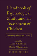 Handbook of Psychological and Educational Assessment of Children  2 e Book PDF