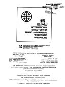 E/MJ International Directory of Mining and Mineral Processing Operations