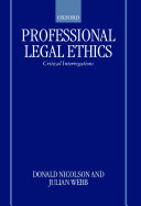 Professional Legal Ethics