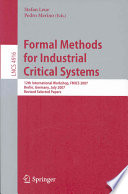 Formal Methods for Industrial Critical Systems Book