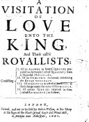 A Visitation of Love Unto the King, and Those Call'd Royallists ebook