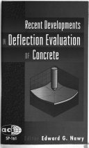 Recent Developments in Deflection Evaluation of Concrete Book