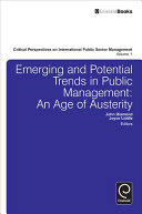 Emerging and Potential Trends in Public Management