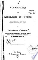 A Vocabulary of English Rhymes Book PDF