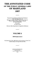 Michie s Annotated Code of the Public General Laws of Maryland  1957