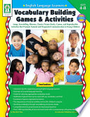 English Language Learners  Vocabulary Building Games   Activities  Ages 4   8