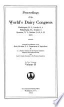 Proceedings Of The World S Dairy Congress