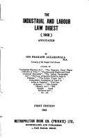 The Industrial And Labour Law Digest 1960 Annotated