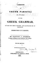 Lessons in Greek Parsing
