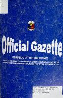 Official Gazette Book PDF