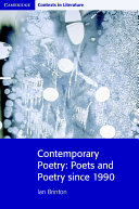 Books - Contemporary Poetry: Poets And Poetry Since 1990 | ISBN 9780521712484