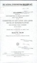 The National Environmental Education Act