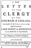 A Second Letter to the Clergy of the Church of England Book