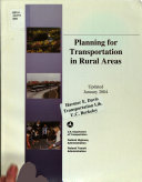 Planning for Transportation in Rural Areas