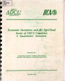 Economic incentives and the Agri Food Sector of OECS Countries  A Quantitative Assessment