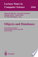 Objects and Databases  : International Symposium, Sophia Antipolis, France, June 13, 2000. Revised Papers
