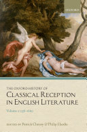 Pdf The Oxford History of Classical Reception in English Literature Telecharger