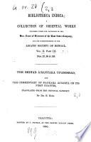 The Brihad Aranyaka Upanishhad
