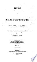 History Of Massachusetts From 1764 To July 1775