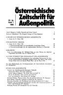 Österreichische Zeitschrift Für Aussenpolitik