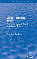 Voice Terminal Echo  Routledge Revivals