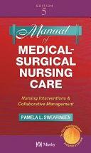Manual of Medical surgical Nursing Care