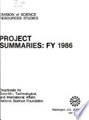 Project Summaries