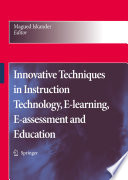 Innovative Techniques In Instruction Technology E Learning E Assessment And Education Book PDF