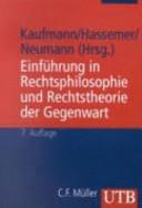 Cover image of Einführung in Rechtsphilosophie und Rechtstheorie der Gegenwart