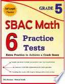 6 SBAC Math Practice Tests Grade 5