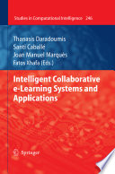 Intelligent Collaborative E Learning Systems And Applications Book PDF