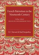 French Patriotism in the Nineteenth Century (1814–1833)