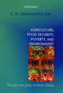 Agriculture Food Security Poverty And Environment