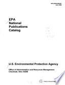 Epa National Publications Catalog