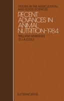 Recent Advances in Animal Nutrition—1984 Pdf/ePub eBook