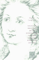 Selected Writings of an Eighteenth Century Venetian Woman of Letters