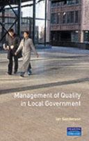 Management Of Quality In Local Government
