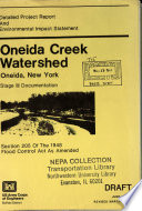 Oneida Creek Watershed Stage 3 Detailed Project Report
