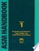 ASM Handbook: Properties and selection