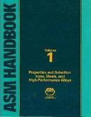 ASM Handbook  Properties and selection