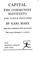 Capital The Communist Manifesto And Other Writings