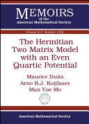 The Hermitian Two Matrix Model with an Even Quartic Potential