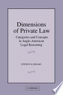 Dimensions Of Private Law