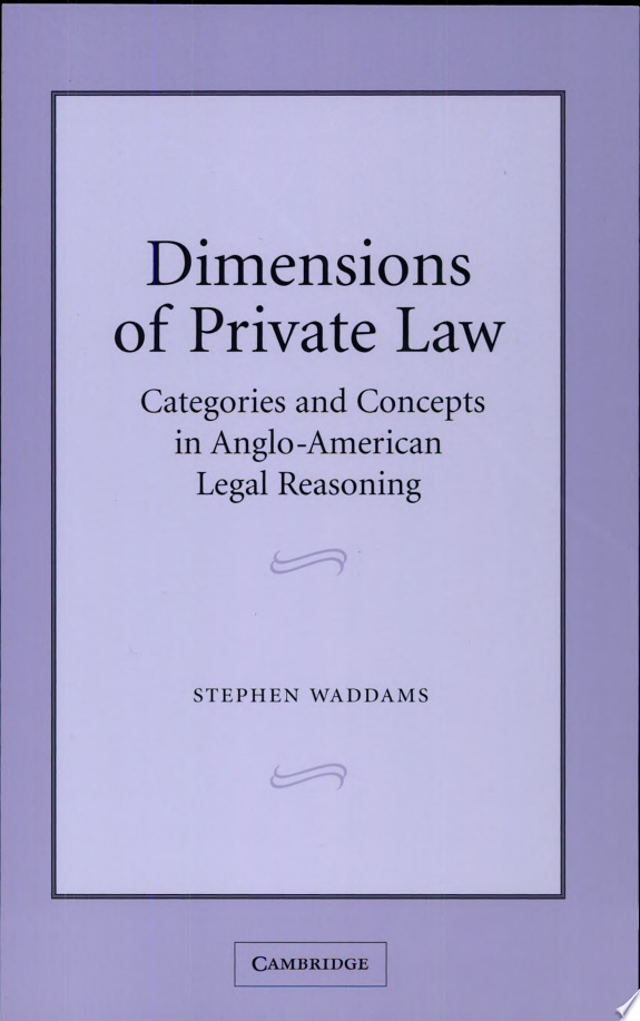 Dimensions of Private Law